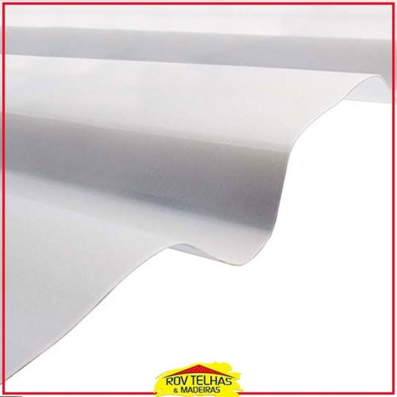 Telha Translúcida Branca Leitosa Valores Guararema - Telha Translúcida Branca