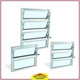 janela de alumínio basculante Suzano