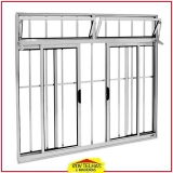 janela de alumínio branco com grade valor Sorocaba