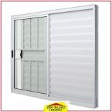 janela de alumínio branco com grade Bragança Paulista