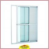 janela de alumínio branco Atibaia