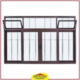 janela de alumínio com veneziana valor Suzano
