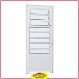 orçar porta de alumínio branco com vidro Santa Isabel