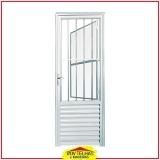 porta de alumínio branco com vidro Campinas