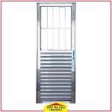 porta de alumínio brilhante orçamento Santa Isabel