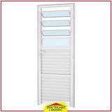 porta de alumínio branco com vidro