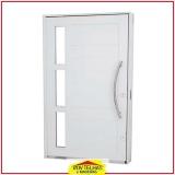 qual é o preço de porta de alumínio branco com vidro Guararema