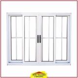 quanto custa janela de alumínio branco com grade Bragança Paulista
